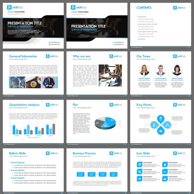 modern professional powerpoint template for a new educational
