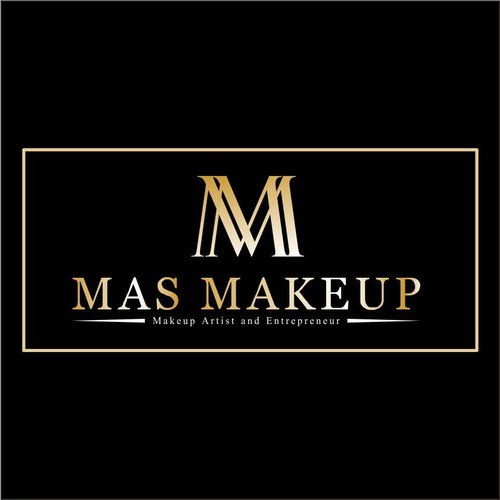 Unique Luxury Logo Business Card For Makeup Artist Entrepreneur