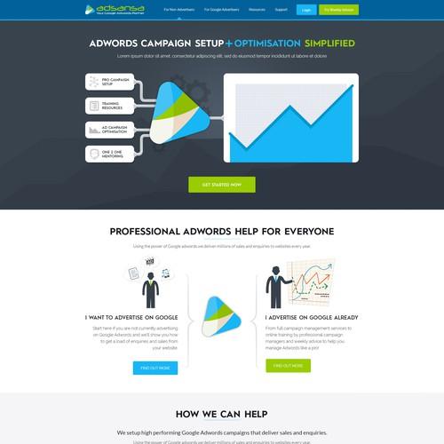 Website Design For Google Adwords Marketing Company Web Page Design Contest 99designs