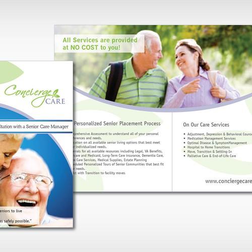 placement brochure design - senior placement services brochure brochure contest