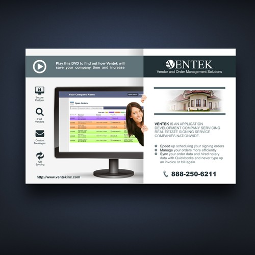 Create a flyer for real estate closing software postcard for Real estate design software