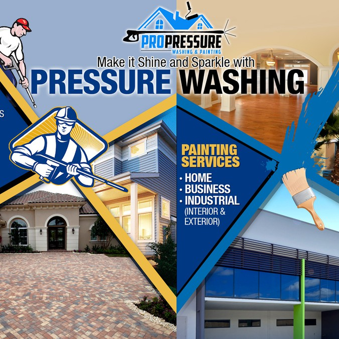 R U A Real Artist Pro Pressure Washing Amp Painting Flyer