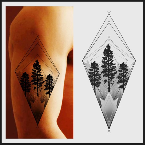 Design A Shoulder Tattoo Using Nature Scenery