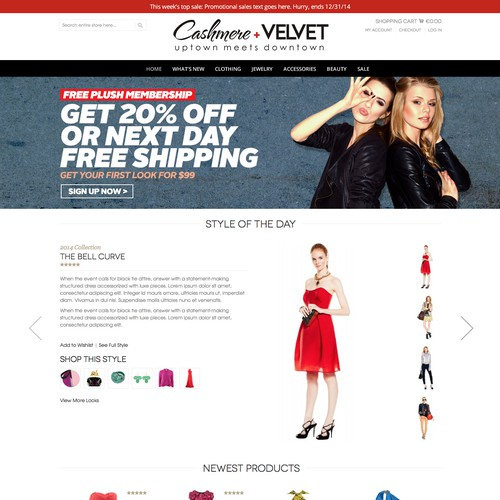 Main homepage banners for online fashion website for women ...