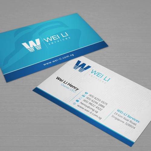Businesscard design for an industrial equipment supplier for Industrial design business card
