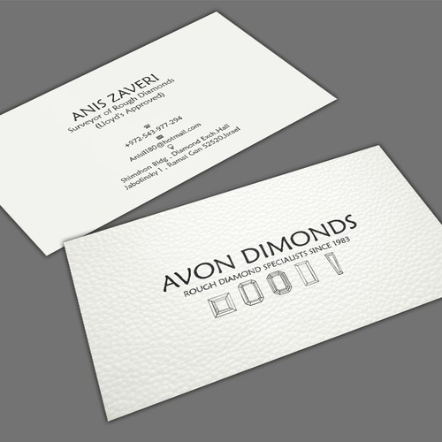 High class business card for diamond consultant business card contest runner up design by mahari colourmoves Gallery
