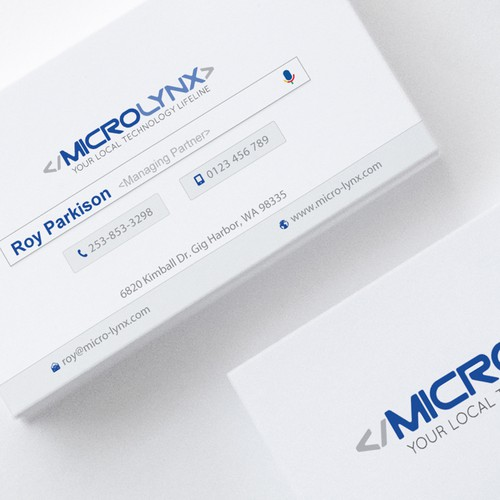Business cards for computer and it support company business card runner up design by bhjit colourmoves
