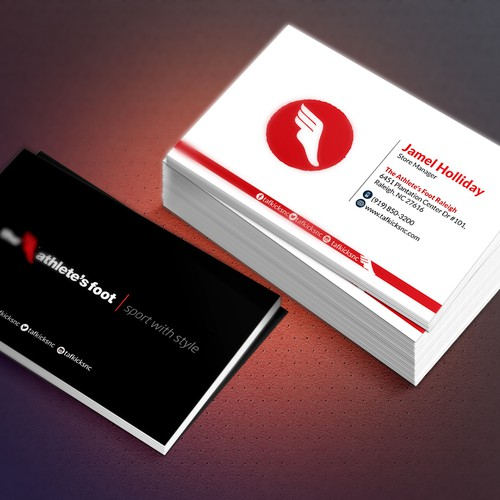 Design a dope business card for a trendy sneaker and apparel company runner up design by ferdoush ara reheart Images
