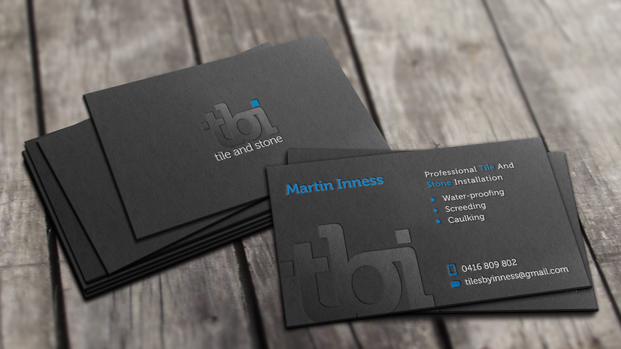 create a stylish  professional logo and business card for a creative floor and wall tiling