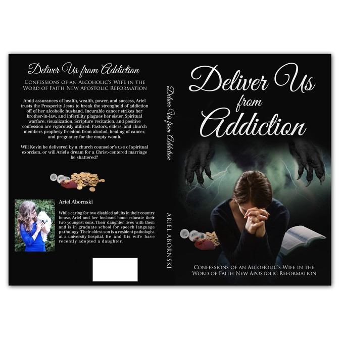Designer book cover about addiction | Book cover contest