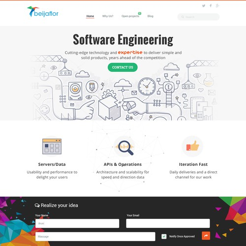 Runner-up design by Technology Wisdom
