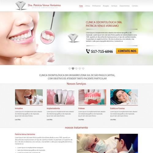 Clinica odontológica Dra. Patricia Venus Verissimo - SITE Design por Refine Edge