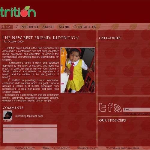 Runner-up design by Ishita