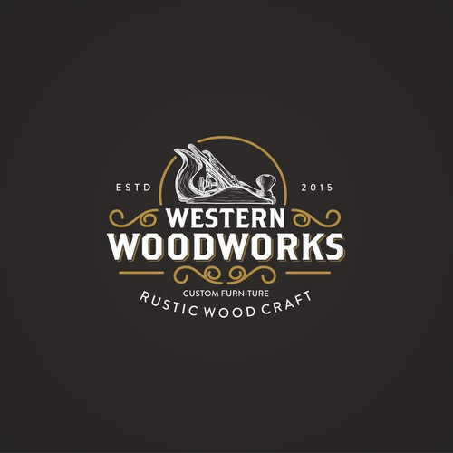 rustic logo design  I need a rustic logo designed for my custom woodworking buisness ...