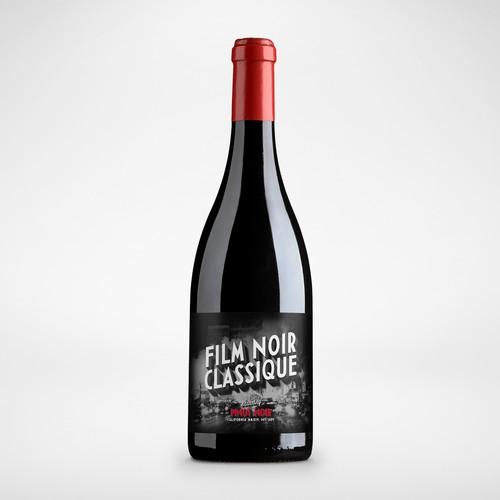 Movie Themed Wine Label - Film Noir Classique Ontwerp door Christian Bjurinder
