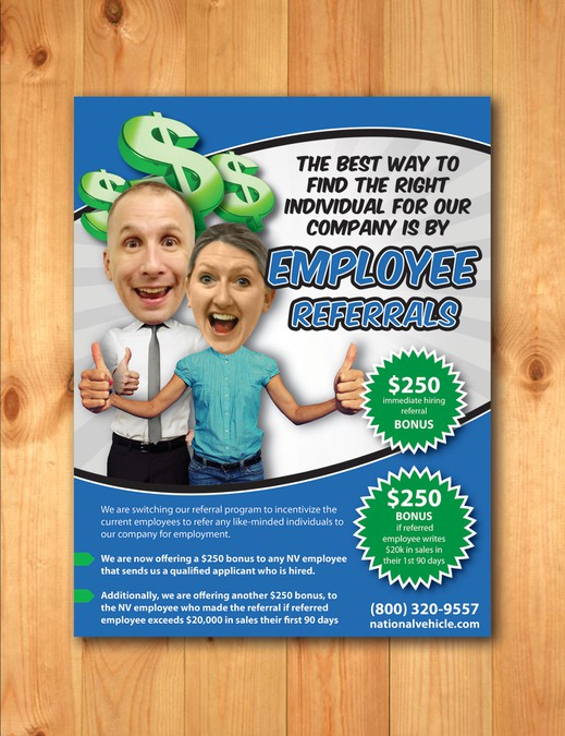 employee referral program flyer winning design by denmcc