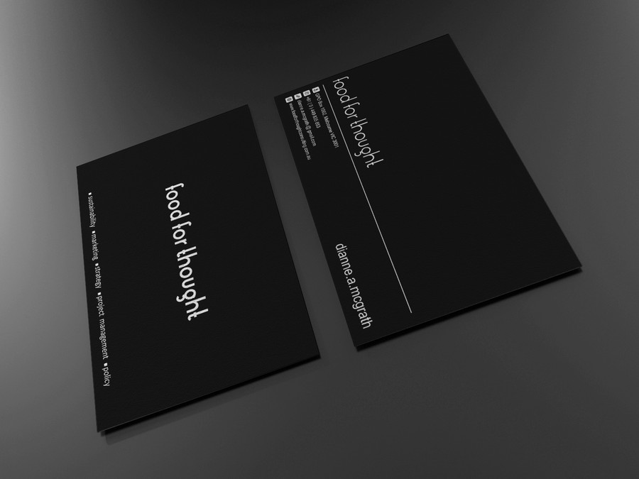 Eye Catching Business Card Design For A Sustainability Consultant