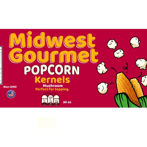 Design a food label for a new Popcorn Brand | Product ...