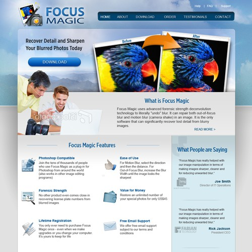 Icon design for the Focus Magic web site Design by Macy 99