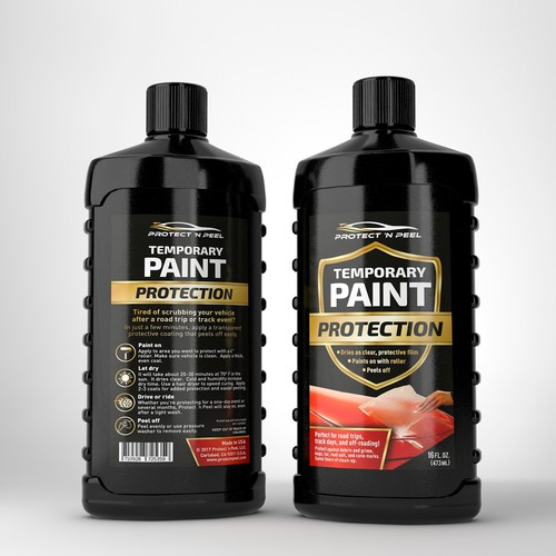 Label For Breakthrough Paint Protection For Auto Industry