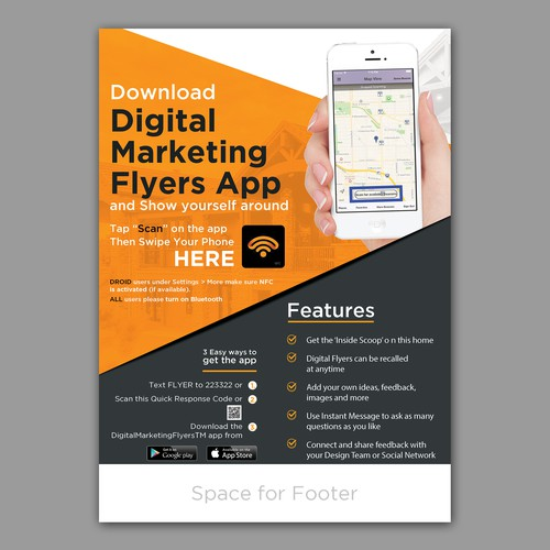 Digital Nfc Marketing Flyer  Poster Contest