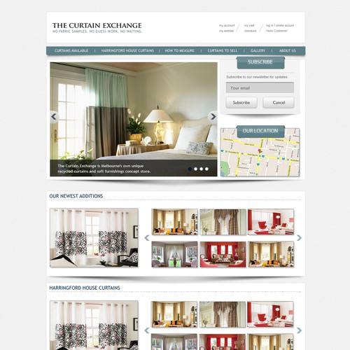 Website Design For The Curtain Exchange Web Page Design Contest 99designs