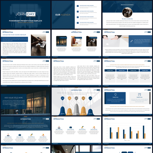 Slide Deck Template For Use At Lawyer Speeches To Other Lawyers Powerpoint Template Contest 99designs