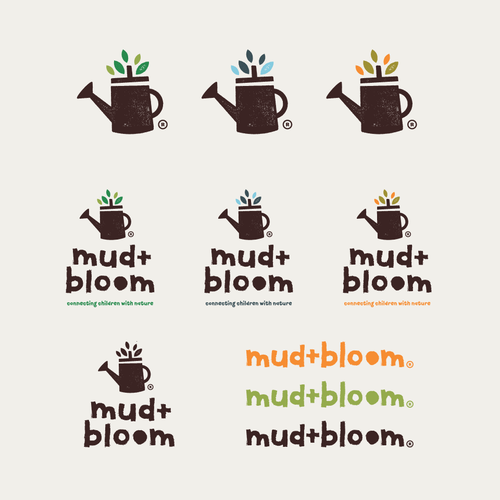 Design a fun, ethical and wholesome looking logo for Mud & Bloom Design by thisisremedy