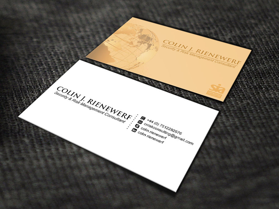 Security and Risk Management Consultant | Business card contest