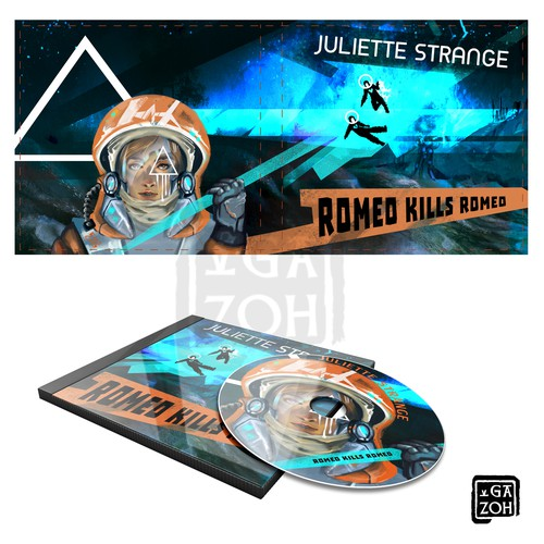 Create album artwork for music CD, front and back, with 60's/70's russian space poster and ideology! Design by GazoH