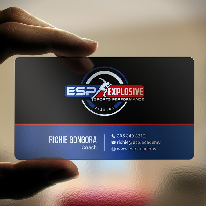 Sports performance company has logo but needs business card we winning design by picasso colourmoves
