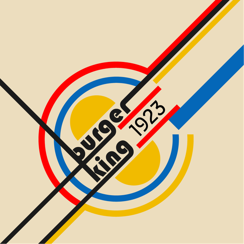 Community Contest | Reimagine a famous logo in Bauhaus style Design by Dmitry Ponomarev
