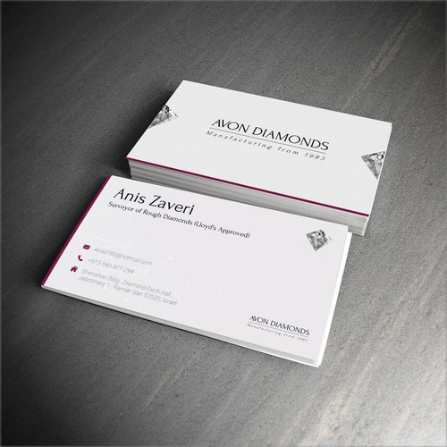High class business card for diamond consultant business card contest runner up design by hariton colourmoves