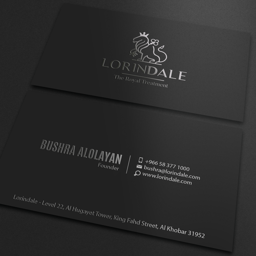 runner up design by an designer - Luxury Business Cards