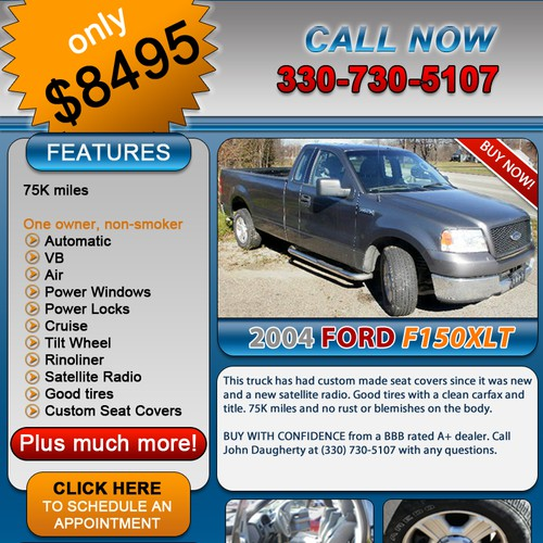 Template for Used Car Ad PSD – Car Ad Template