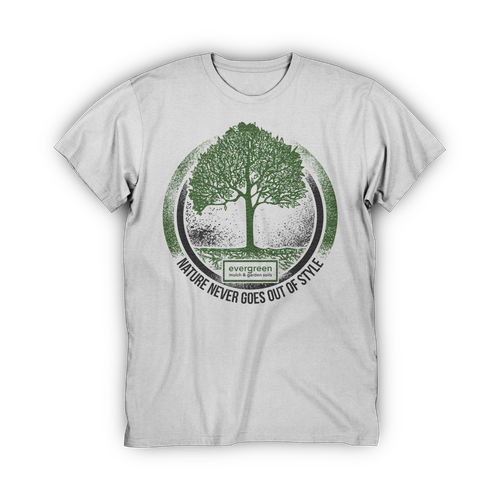 Design tshirt for an outdoorsy tree themed garden supply for Garden t shirt designs