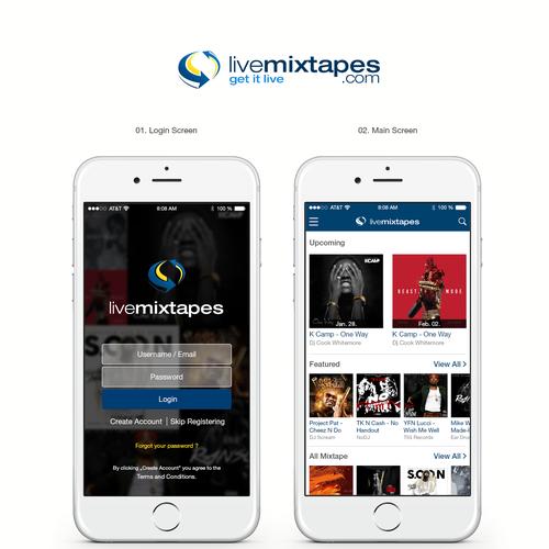LiveMixtapes iOS App Design | App design contest