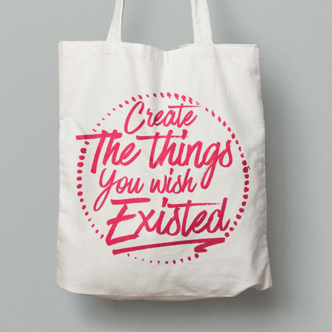 6c520a55ca7e 8 Simple Quote Tote Bag Art Designs | Other clothing or merchandise ...