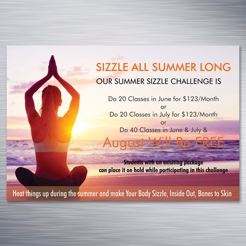 Help People Do More Yoga Promoting Our Summer Challenge Poster