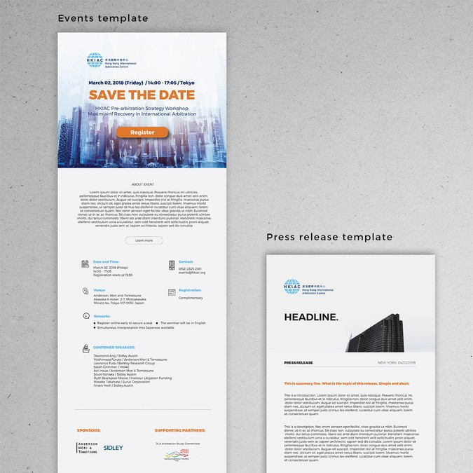 Create A Sleek And Modern Mailchimp Template For Events And Press - Mailchimp press release template