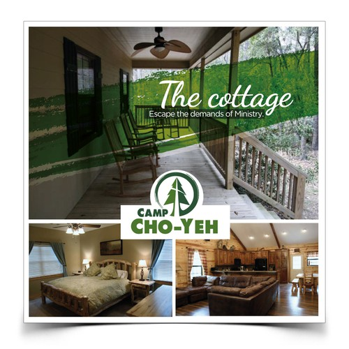 Create 3 coordinating marketing postcards for Camp Cho-Yeh Design by CR75™