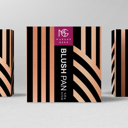 Makeup Geek Blush Box w/ Art Deco Influences Design by bcra