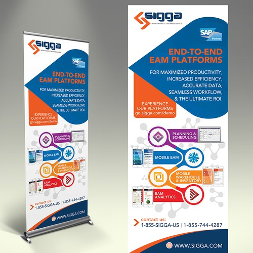 Create A Modern Innovative Feel For B2b Software Company Trade Show Banner Signage Contest 99designs