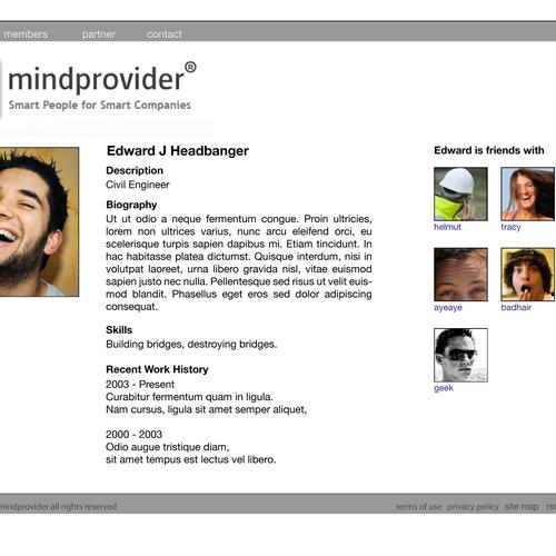Ontwerp van finalist minimalist
