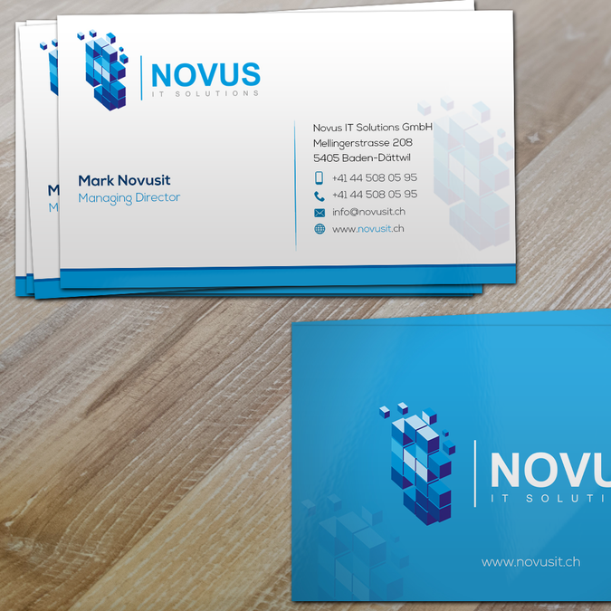 Novus Visitenkarten Business Card Contest