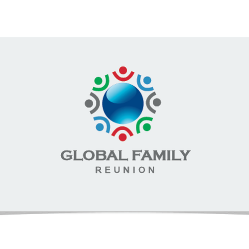 create a logo for the global family reunion a one of a kind event