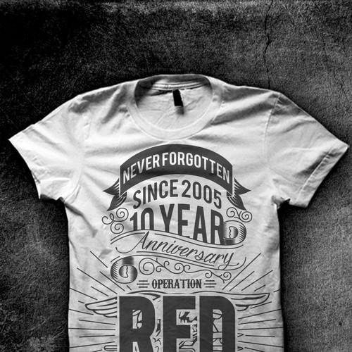 Operation Red Wings 10 Year Anniversary Tee Shirt T