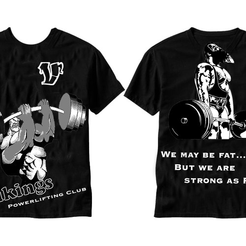 T-shirt design for a Powerlifting Club | T-shirt contest