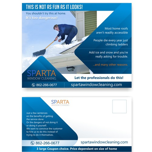 Design an attractive 85 x 11 eddm postcard advertising snow removal runner up design by cristo04 solutioingenieria Image collections