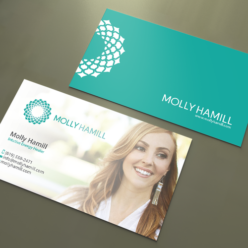 Business cards for intuitive energy healer business card contest runner up design by an designer reheart Image collections